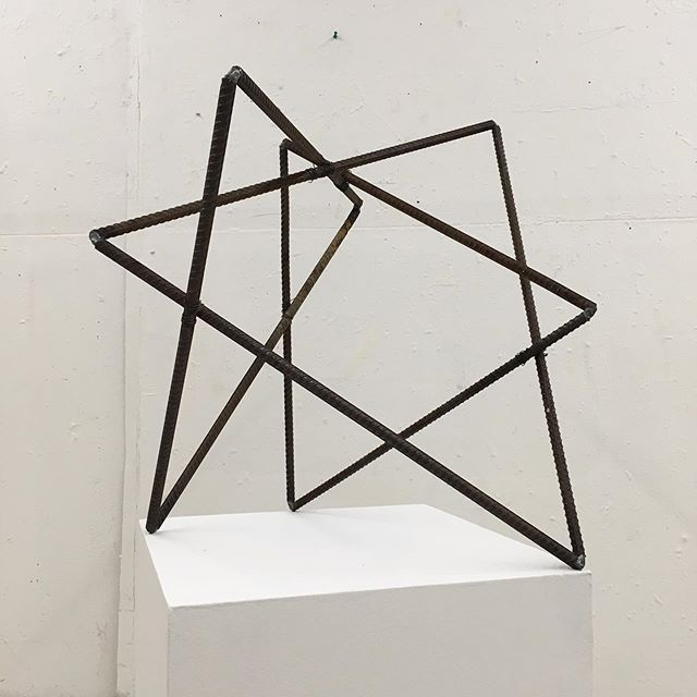 "Please join me this Saturday, June 1st at 7pm for the opening reception of my show @homme_dc  SPATIAL LEARNING  A site-specific installation comprised of freestanding and and wall mounted sculptures.  Untitled structure  1/2"" Re-bar and 16ga bailing wire  24""x25""x20"""