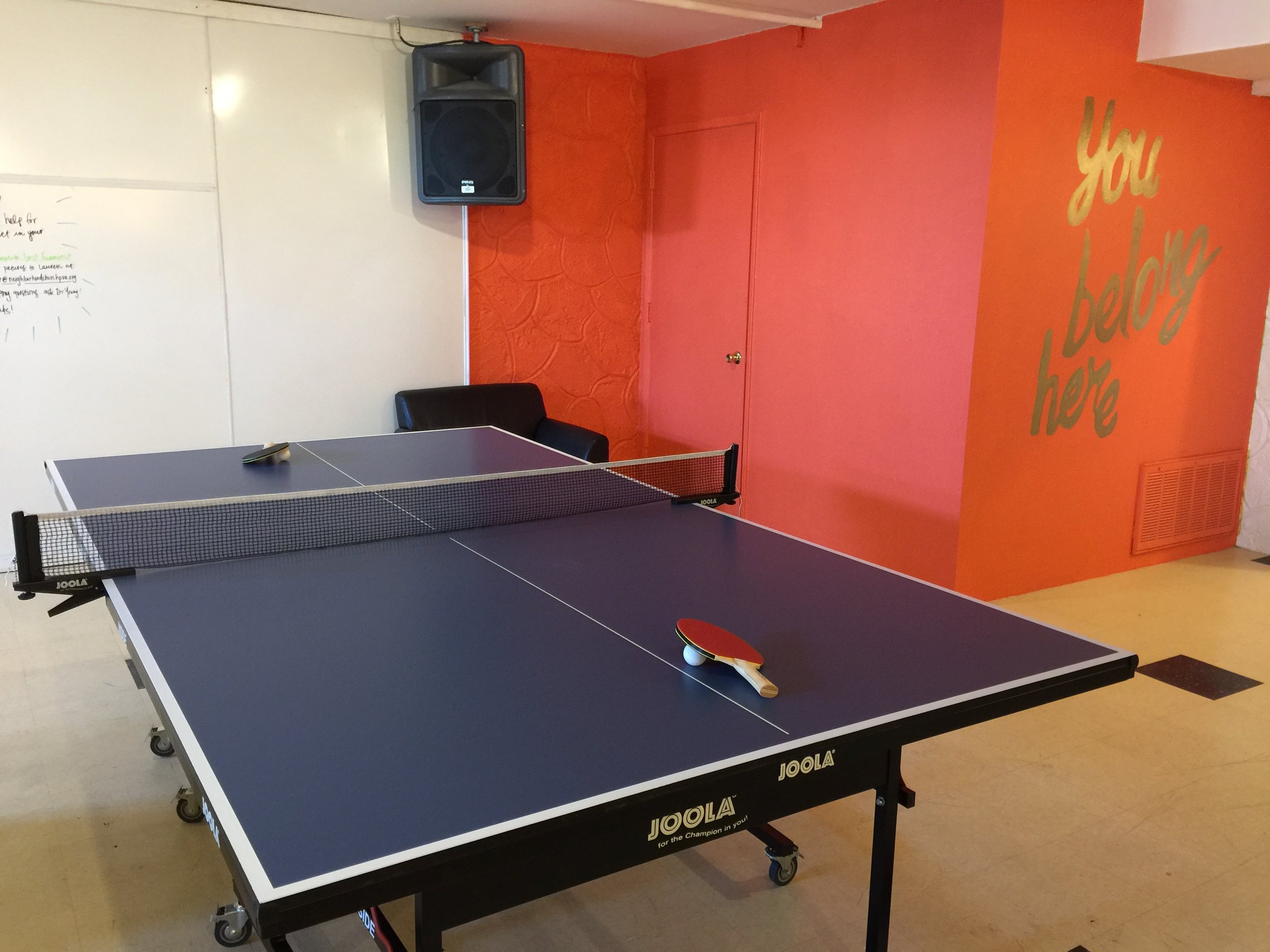 Our brand new ping pong table adds the finishing touches to our recently renovated Cyclops Room