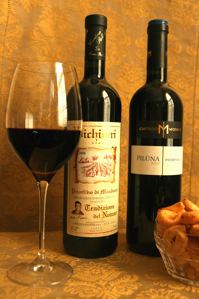 Traditional and modern styles of Primitivo from Puglia.