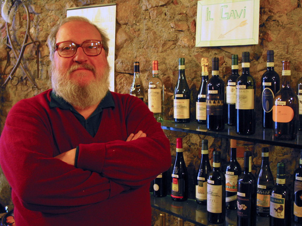 Antonio Paolillo, owner of Enoteca La Cave in Gavi