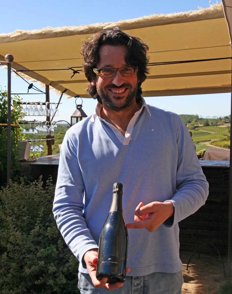 Massimo Moccagatta of Villa Sparina, with their top-notch Gavi Brut