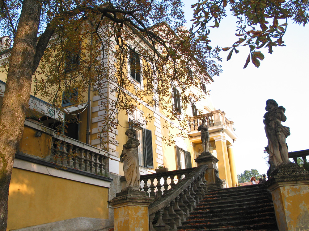 La Giustiniano's stately villa, once a summer escape for patrician families from Genoa