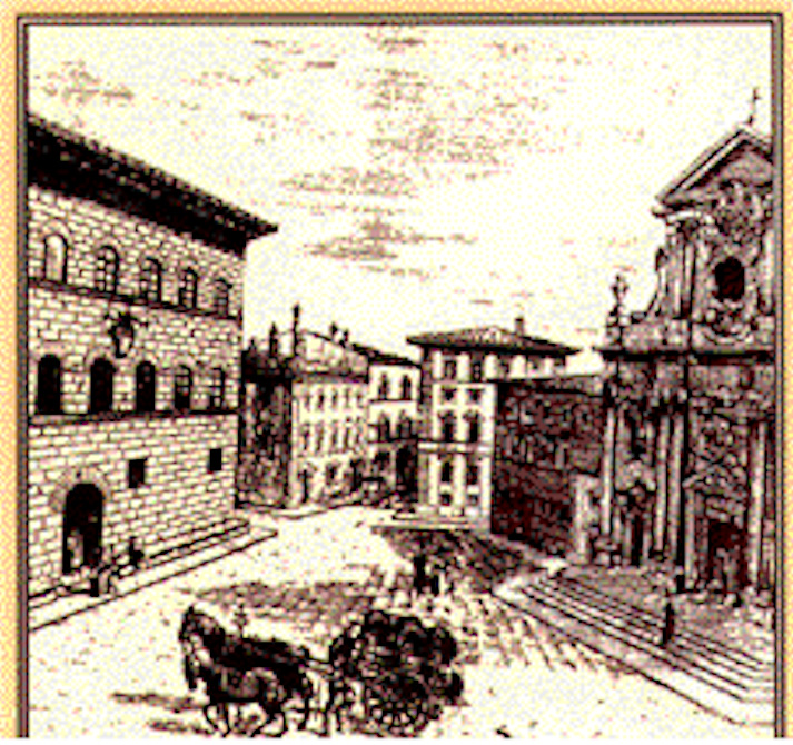Florence's Renaissance-era Palazzo Antinori (left), home to La Cantinetta Antinori