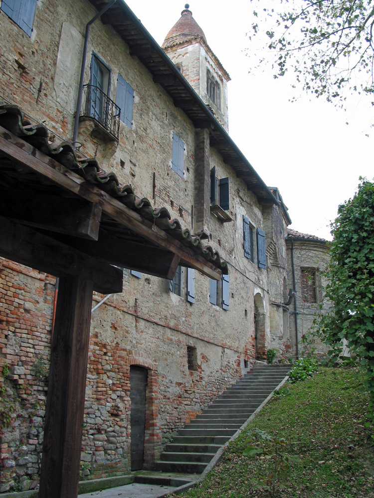 The former Benedictine abbey and WWII barracks where Ratti's private museum is housed.