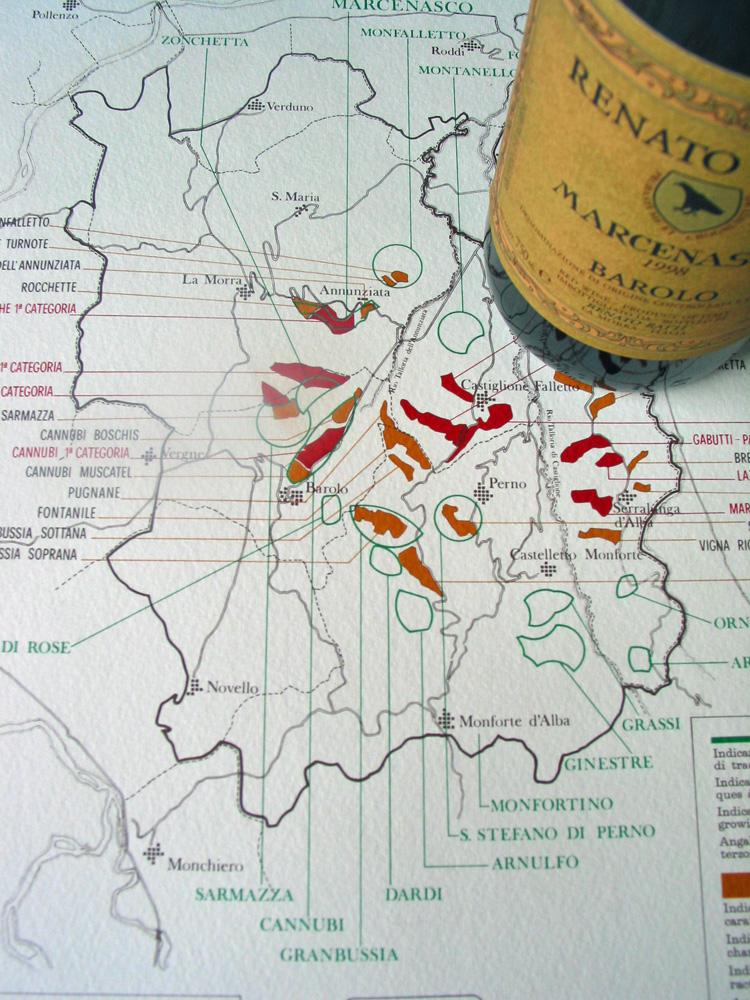 Ratti's ground-breaking Barolo cru map.