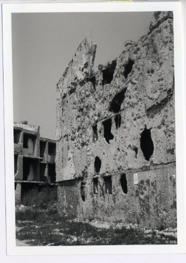 One of the ruins in the city center, left untouched five years after the Dayton Accord.