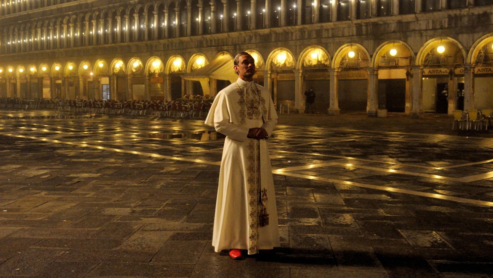 On location on Venice's St. Marks Square.
