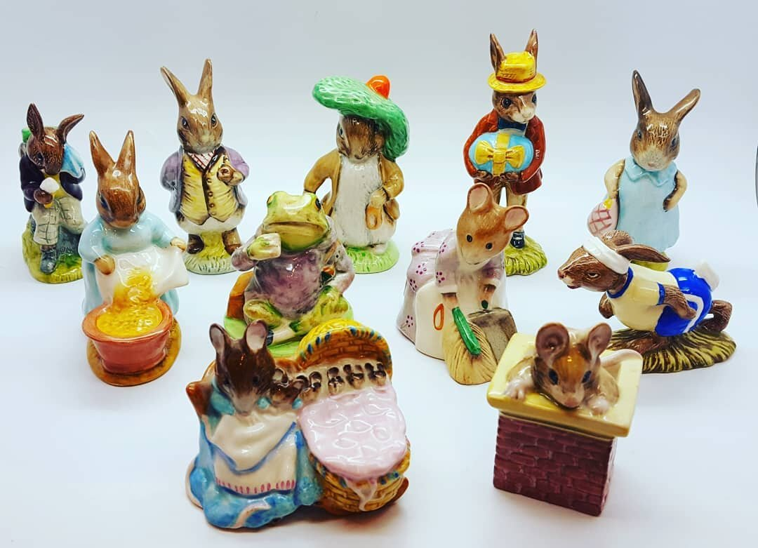 - I love bunnies! I just put out this nice selection of Beatrix Potter & Bunnykins, figurines. Such notable English factories as Royal Albert, Beswick and Royal Doulton have been making these precious characters since the 1940s. Come see what's new this week at Marquis Etc.