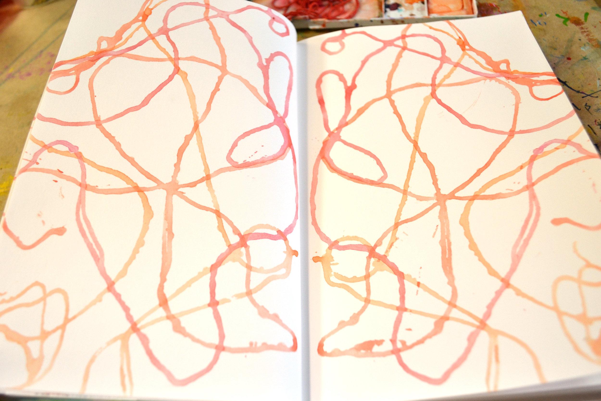 Watercolor: Symmetrical String