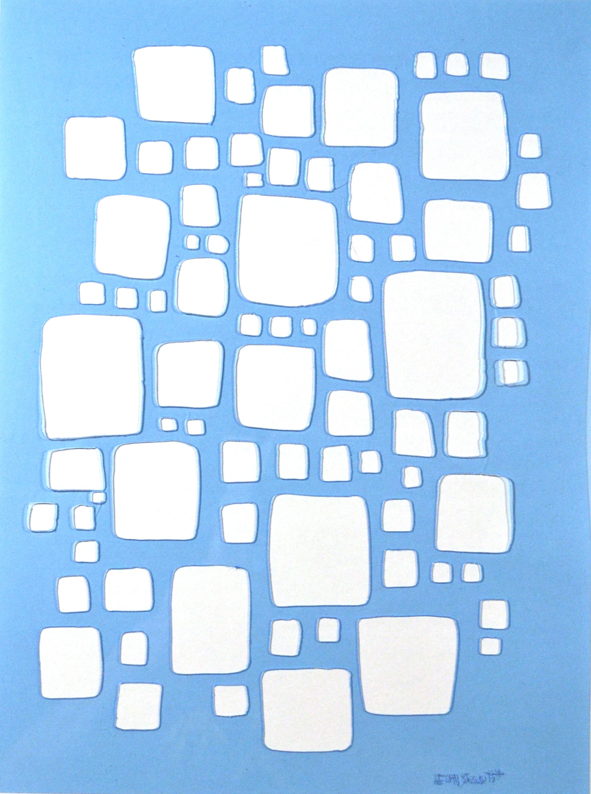 Hand Cut Stencil - Squares