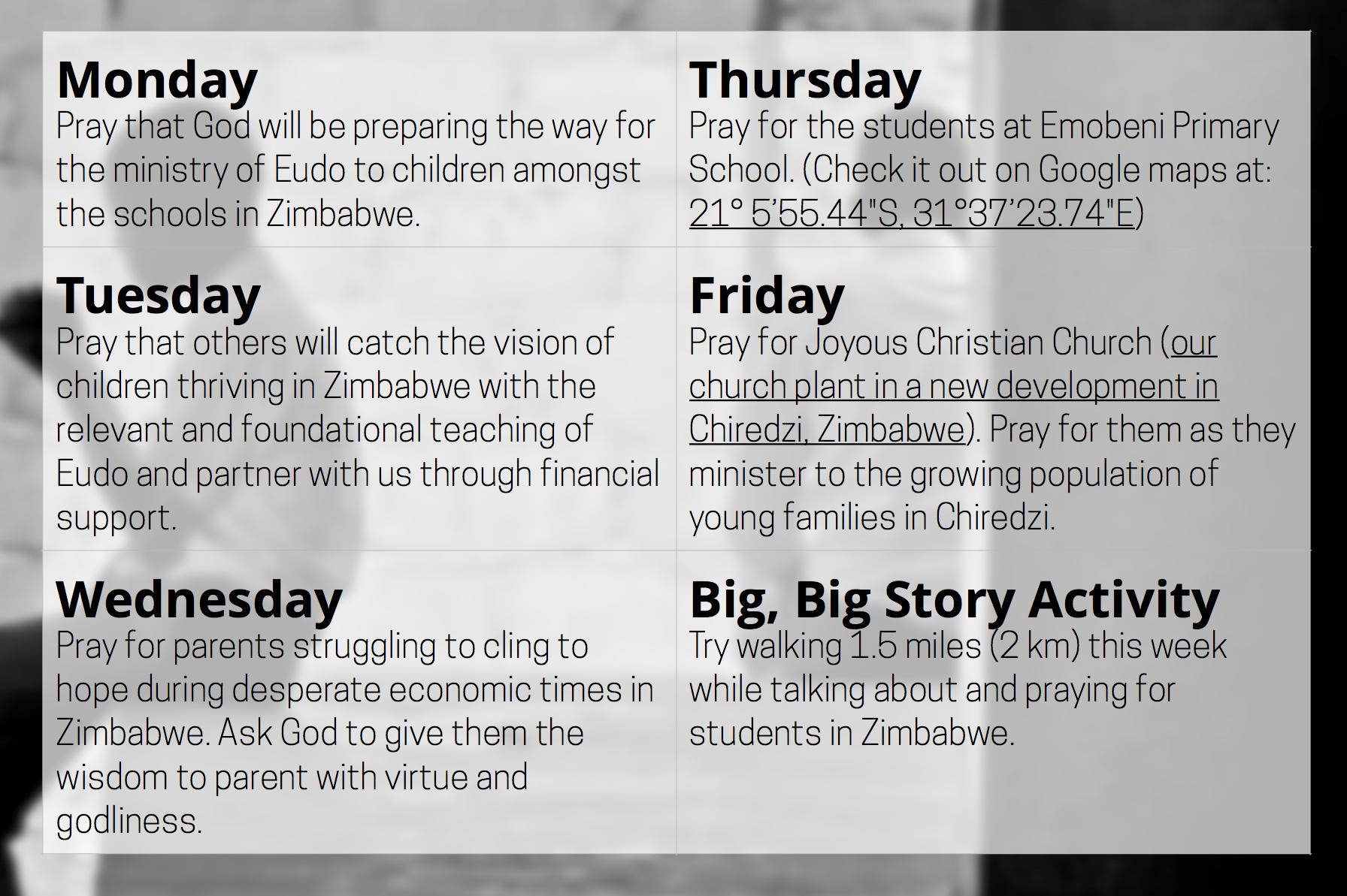 Prayer Update Week 2