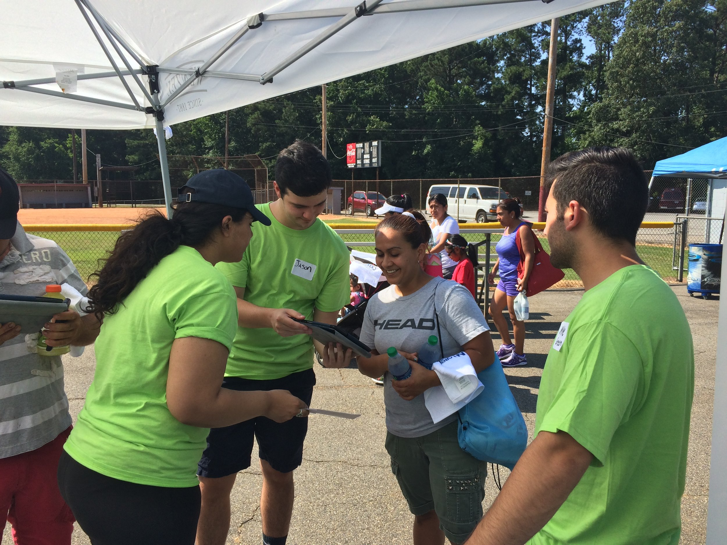 Emory students working with nonprofits in community to understand local housing needs.