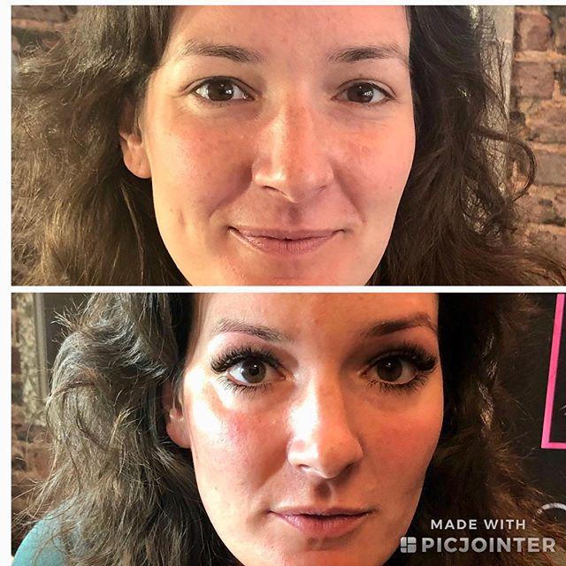 What a difference lashes make!🔥 Hi y'all!! #lashes #lashextensions #minklashes #atlashnashville