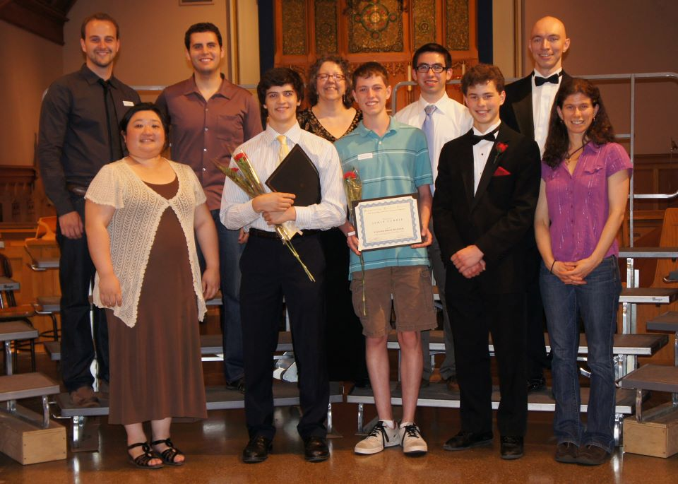 Previous Harmonium Choral Society High School Composition Contest winners.