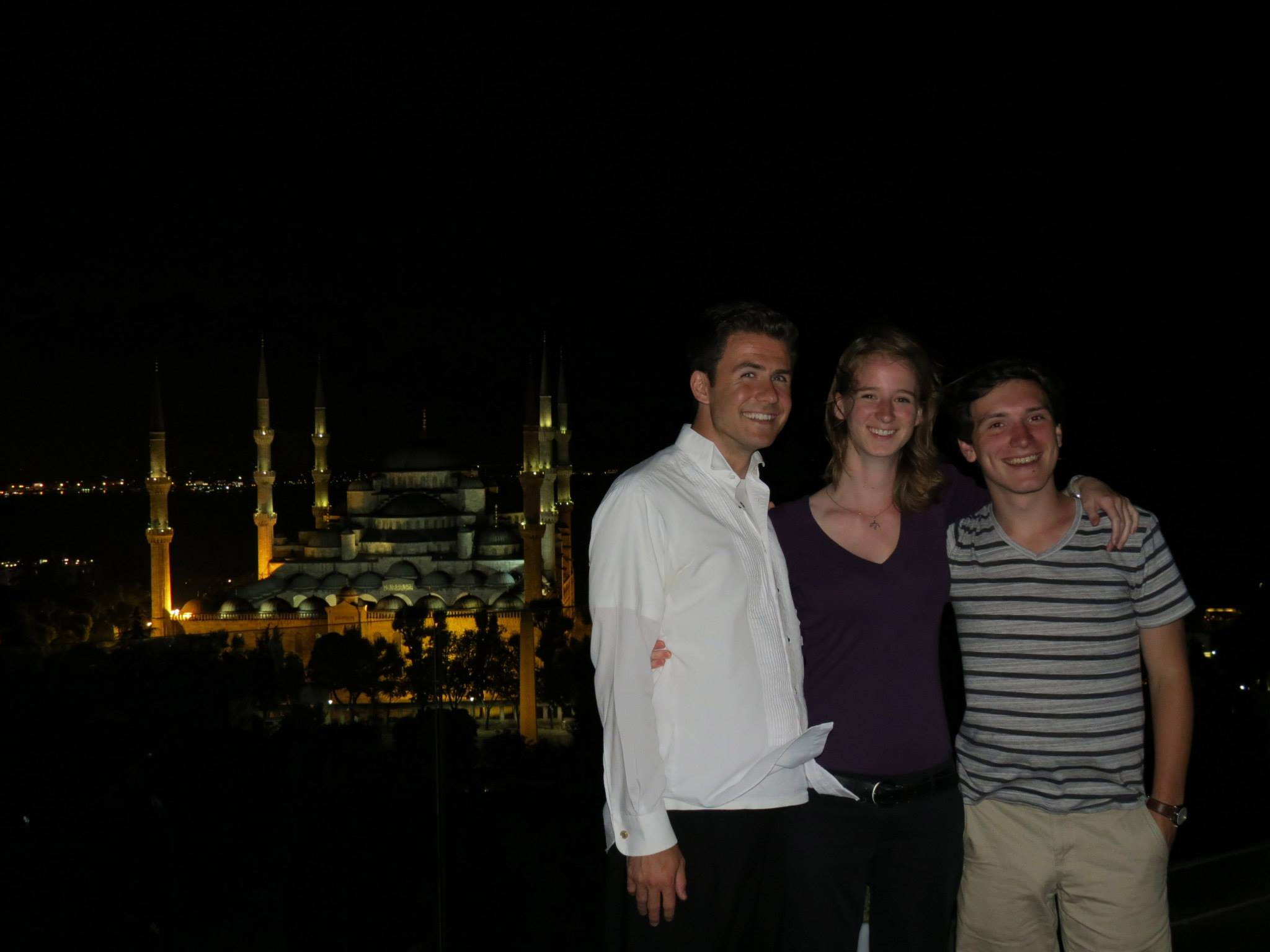 Dinner overlooking the Blue Mosque, Turkey 2013