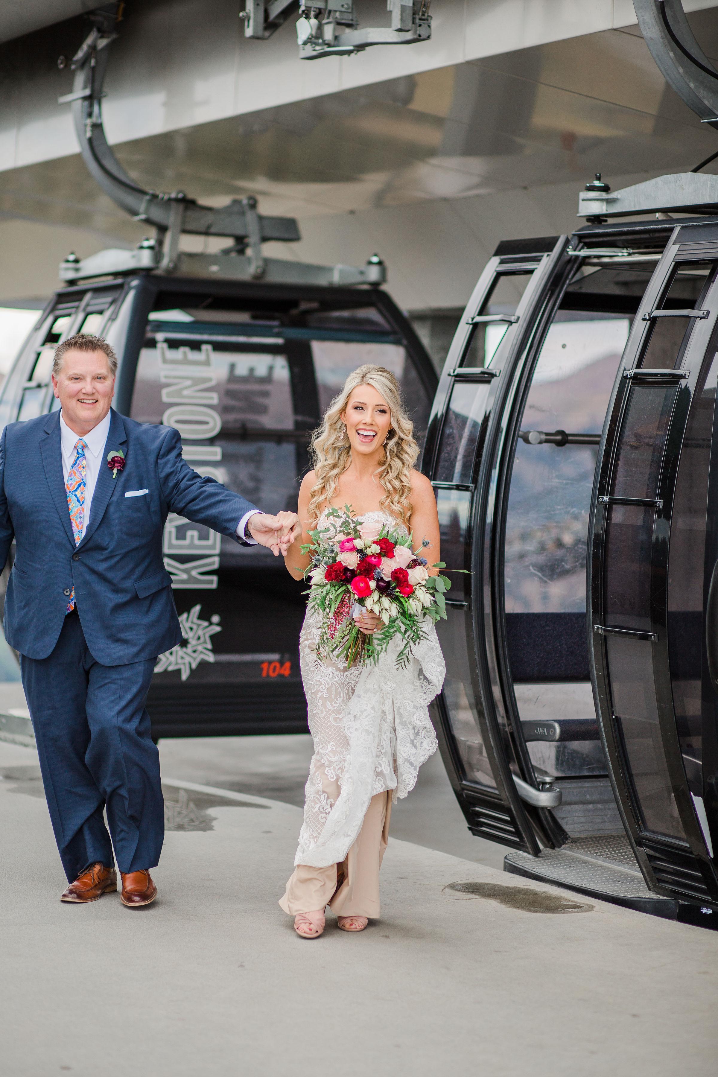 Father presenting Bride