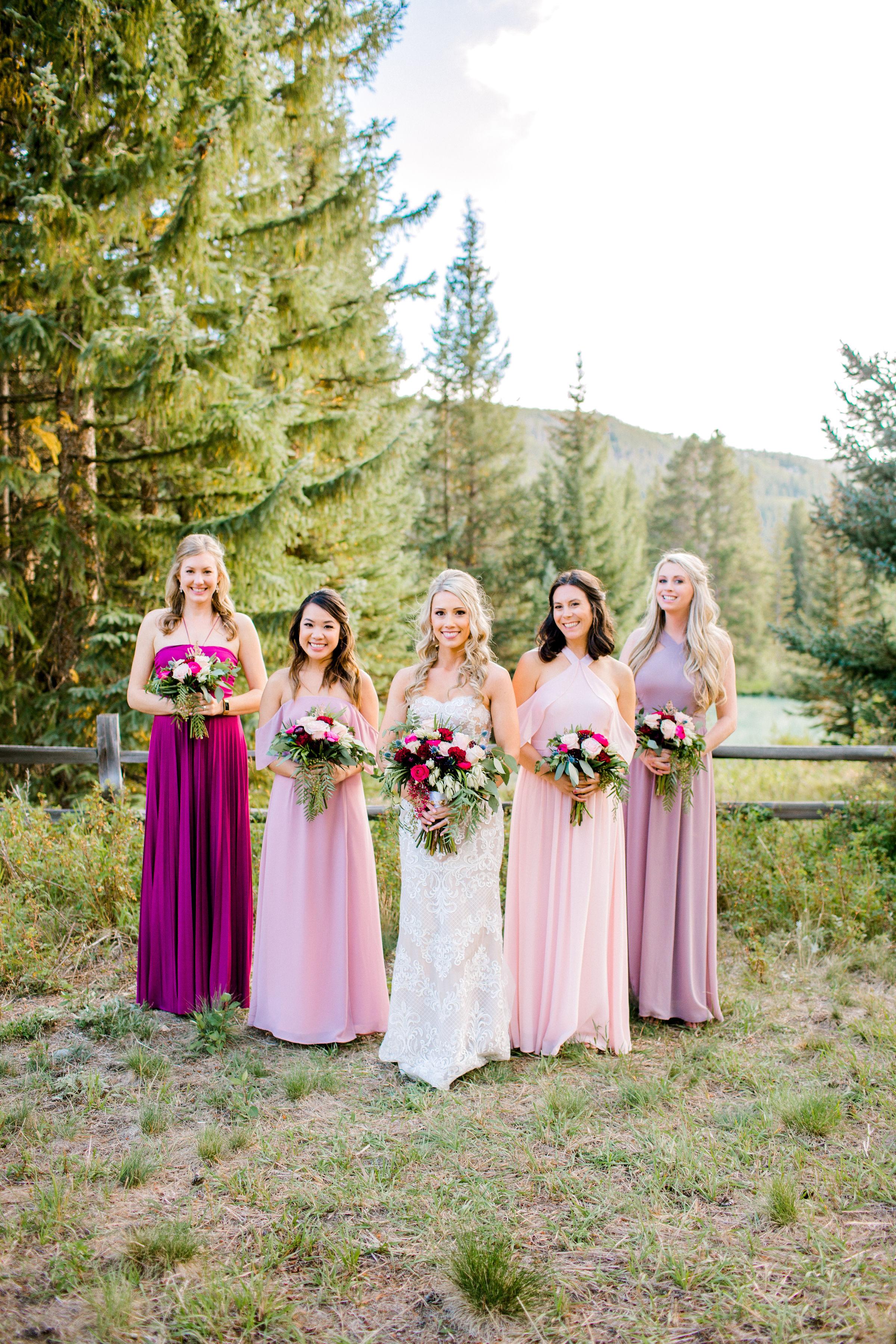 Bridal Party for Mountain Wedding