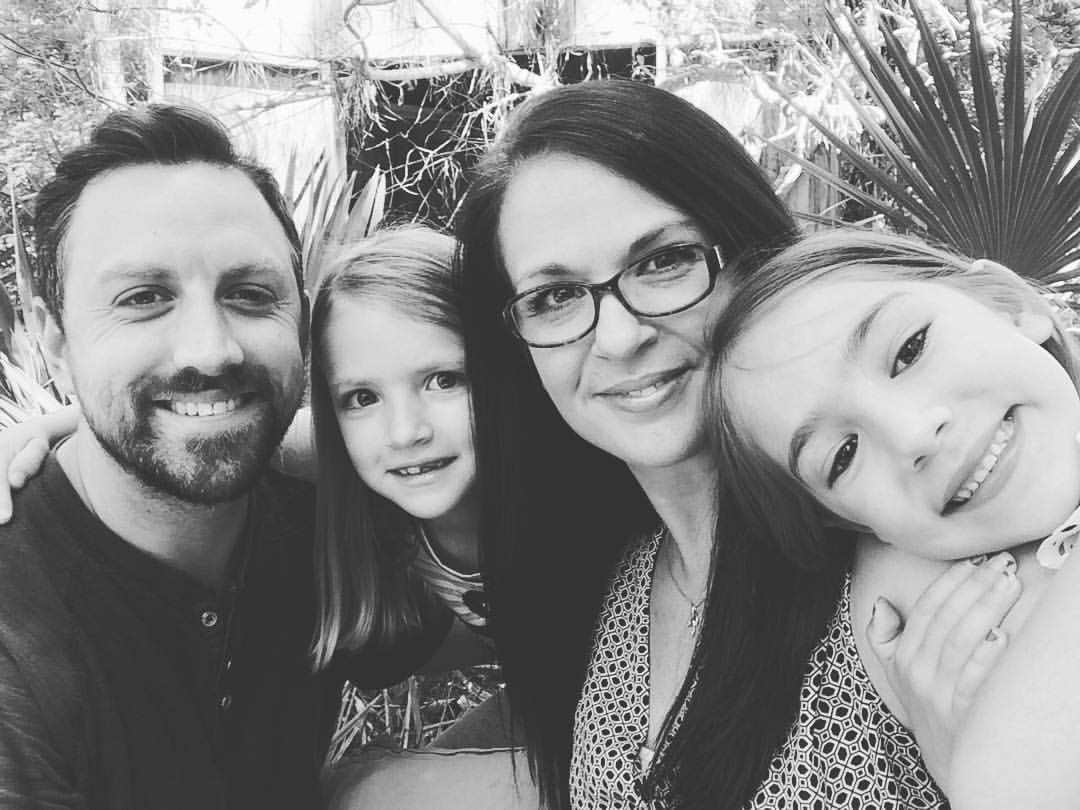 Me and my lovely family a few years ago. Now, we've added a third girl to the mix due mid-April 2018! Whew! Love this family thing!