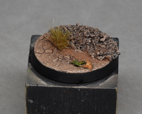 - Glue grass tufts and leaves
