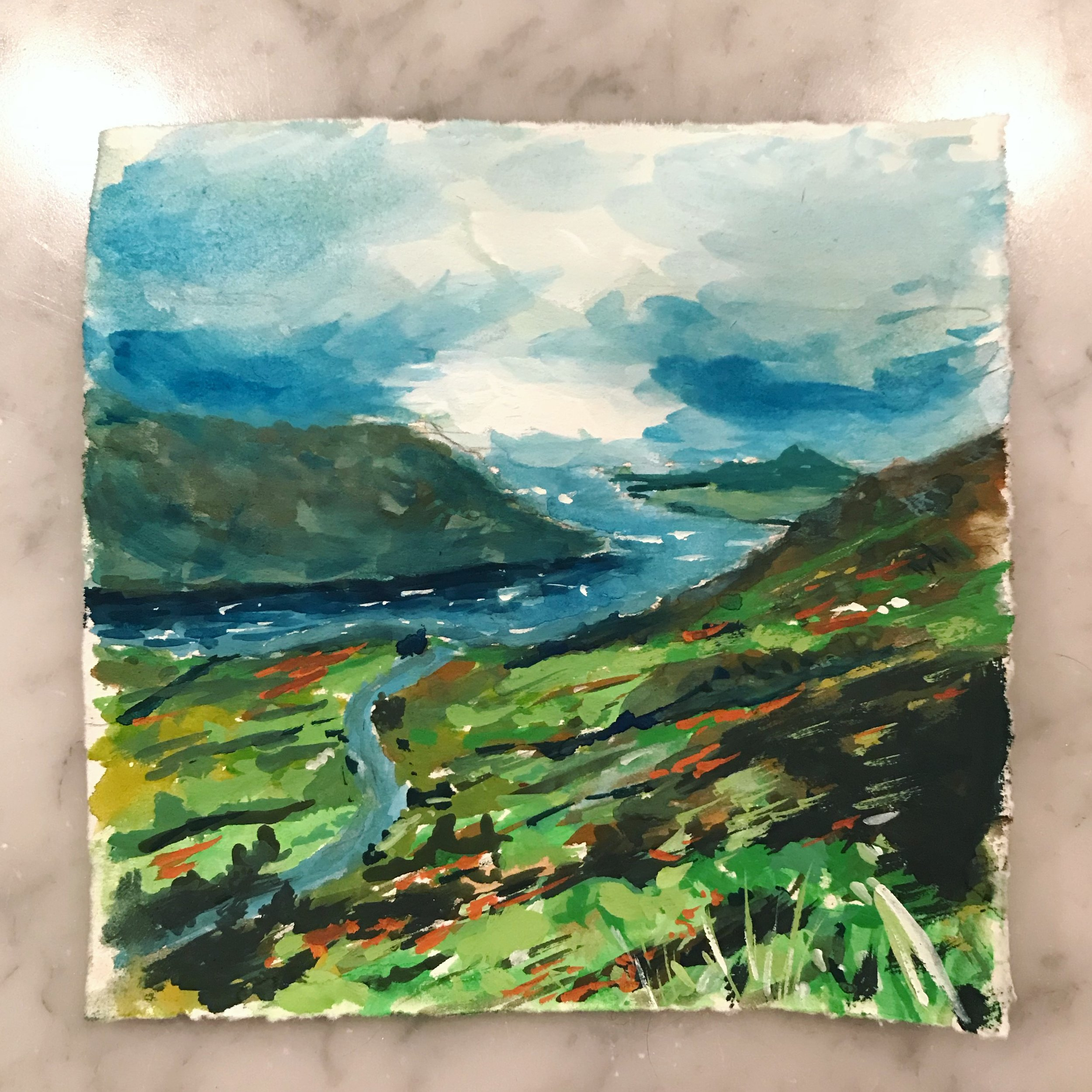 My first gouache painting