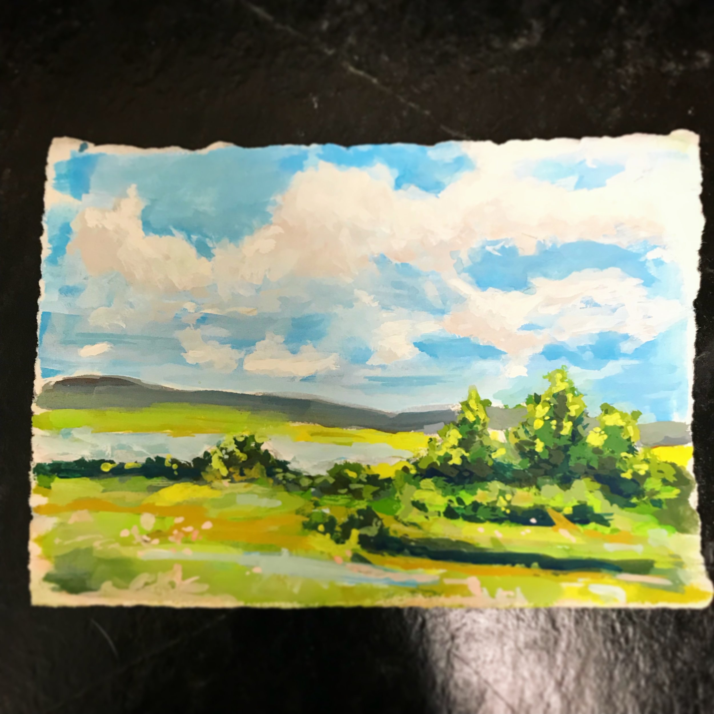 My second painting, working on technique