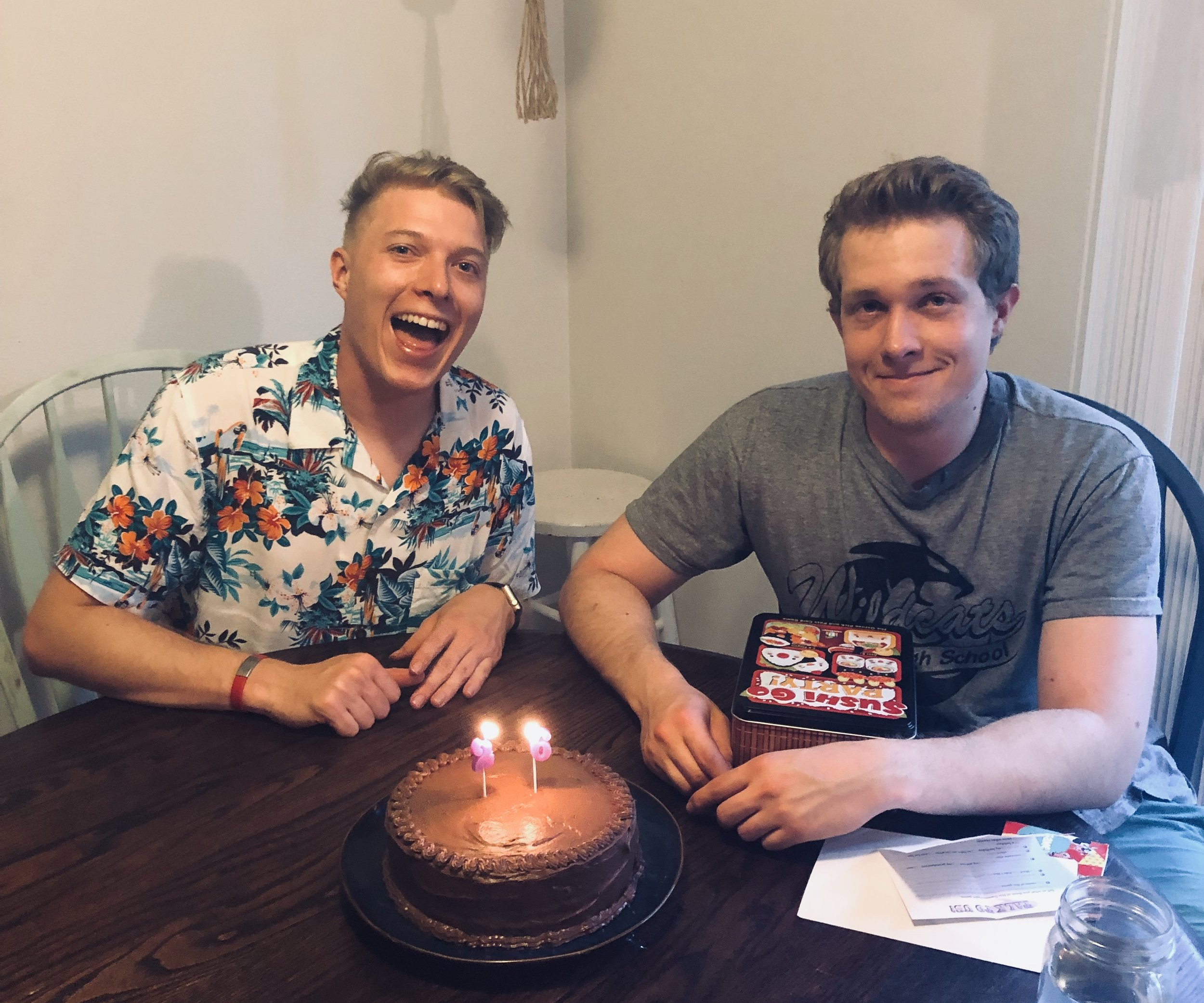My brother Kyle and I celebrating our Birthday!