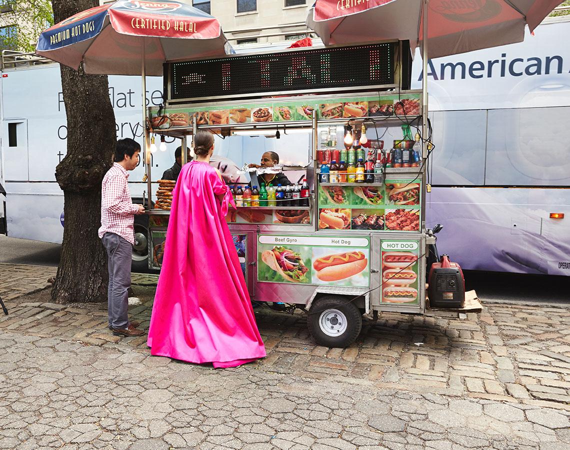 Vogue Ballgowns 3 (hot dog stand), 2014