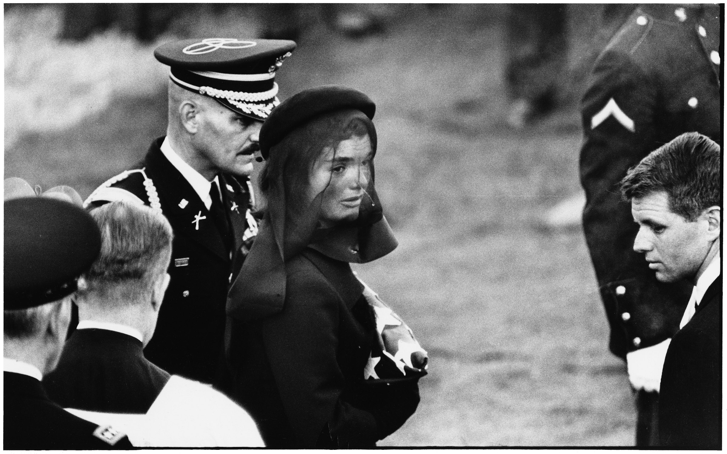 Jacqueline Kennedy at John F. Kennedy's funeral, Arlington, November 25th, 1963