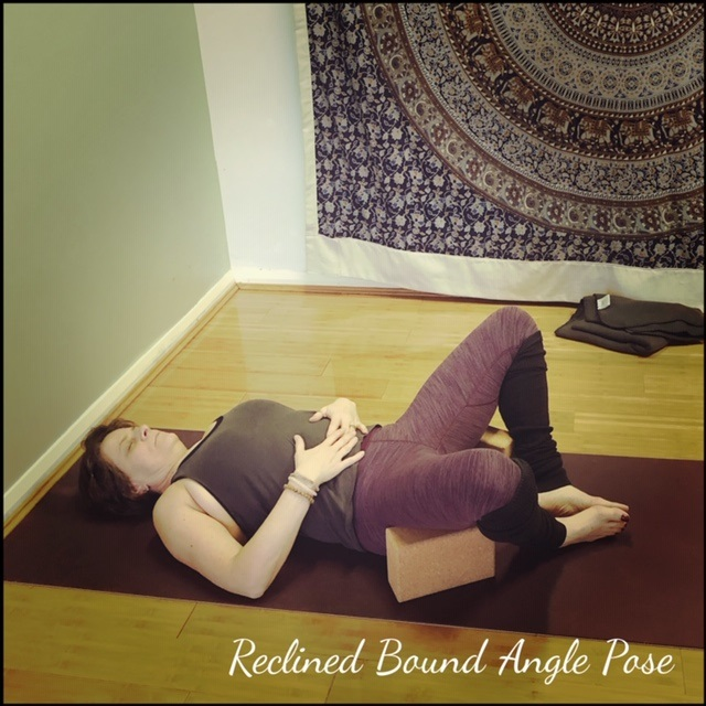 Support outer thighs with blocks or bolsters.