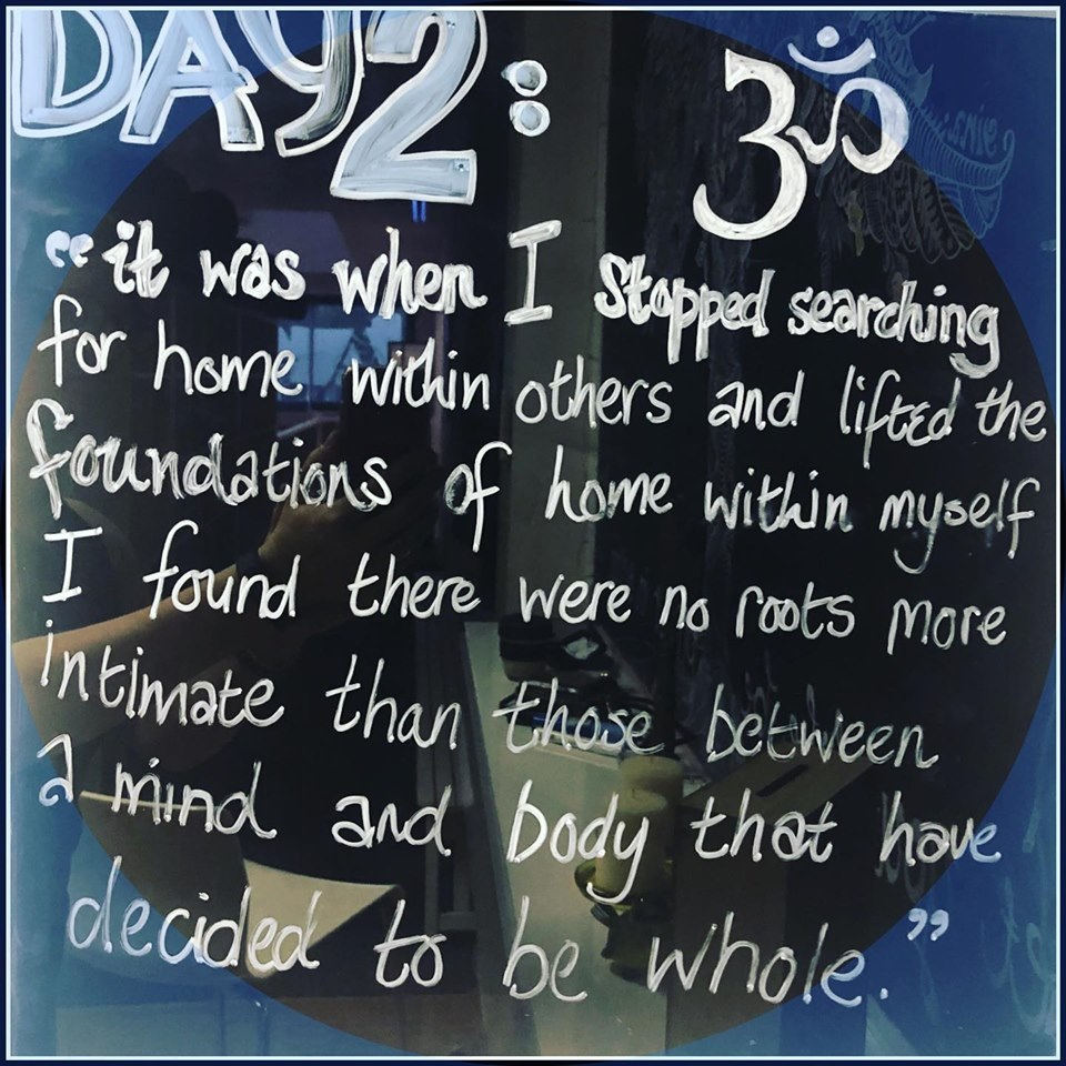 Day 2 Winter 21day challenge 🙏💕 'it was when I stopped searching for home within others and lifted the foundations of home within myself I found there were no roots more intimate than those between a mind and body that have decided to be whole.'  Rupi Kaur