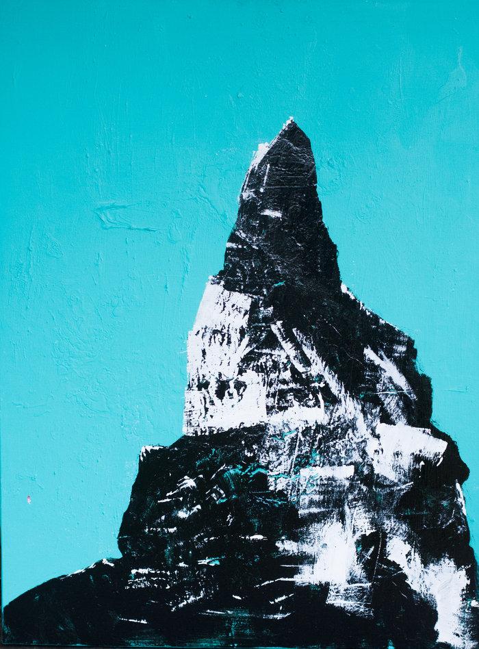 """Portrait of a Mountain 1"", 30x40in"