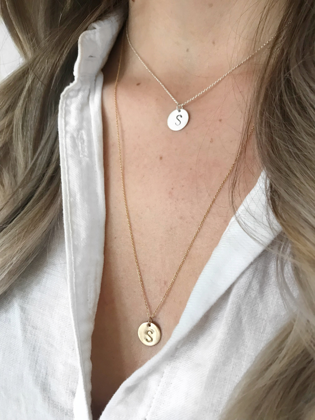 Our Initial Necklace! - Our Initial Necklace was designed by Lofty Living, and is hand made by The Pirate & The Gypsy.Available in sterling silver, 14k gold and 14k rose gold filled, with a choice of a 16