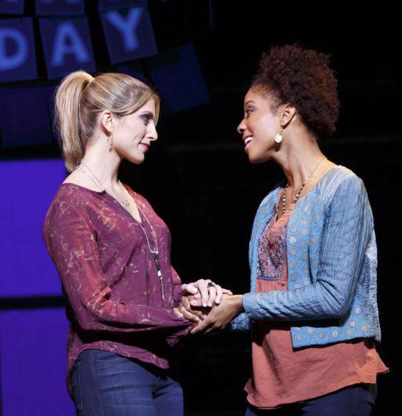 Janine DiVita  (left) as Anne in IF/THEN