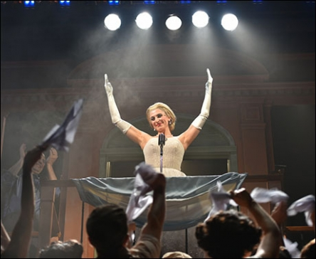 Janine DiVita  as Eva Peron in EVITA at the Engeman Theater
