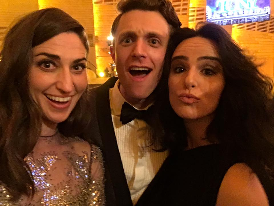At the Tony Awards representing WAITRESS! Students  Henry Gottfried  and  Molly Hager  with an unknown interloper