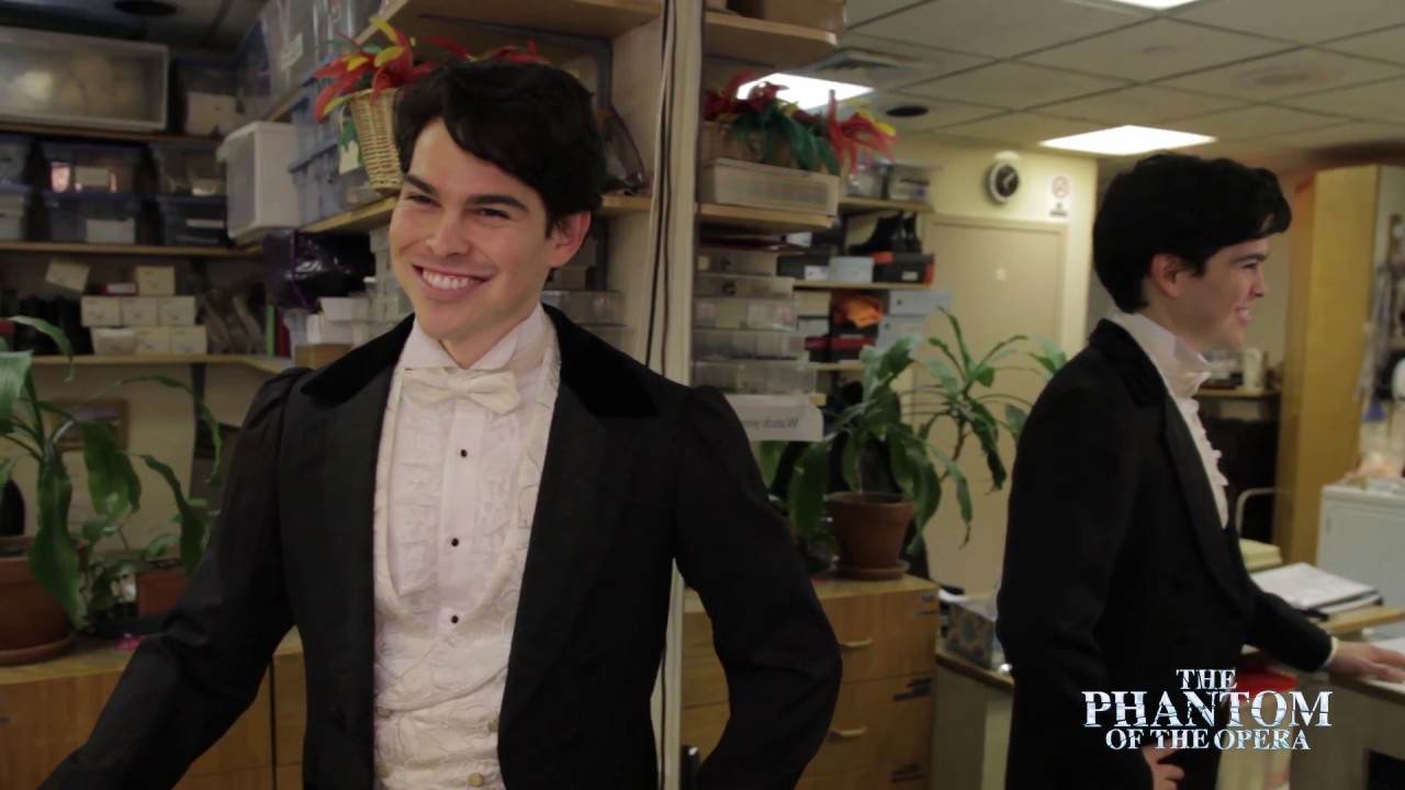 The dashing  Rodney Ingram  (Raoul) backstage at the Majestic Theater