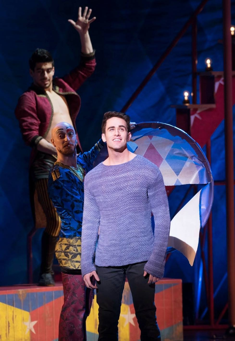 Sam Lips  (Pippin) in Broadway's PIPPIN
