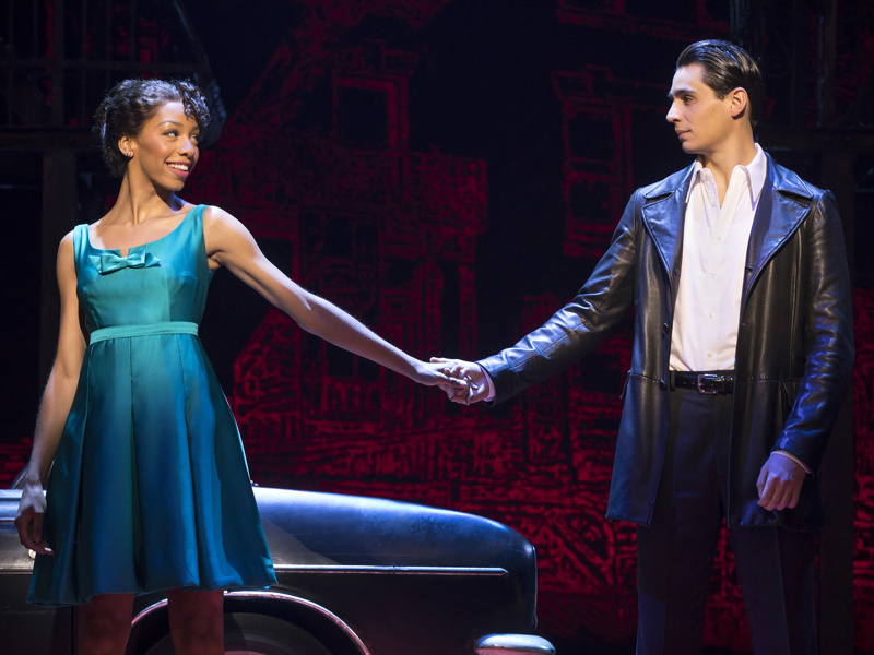 Students  Christiani Pitts  (Jane) and  Bobby Conte Thornton  (Calogero) in Broadway's A BRONX TALE