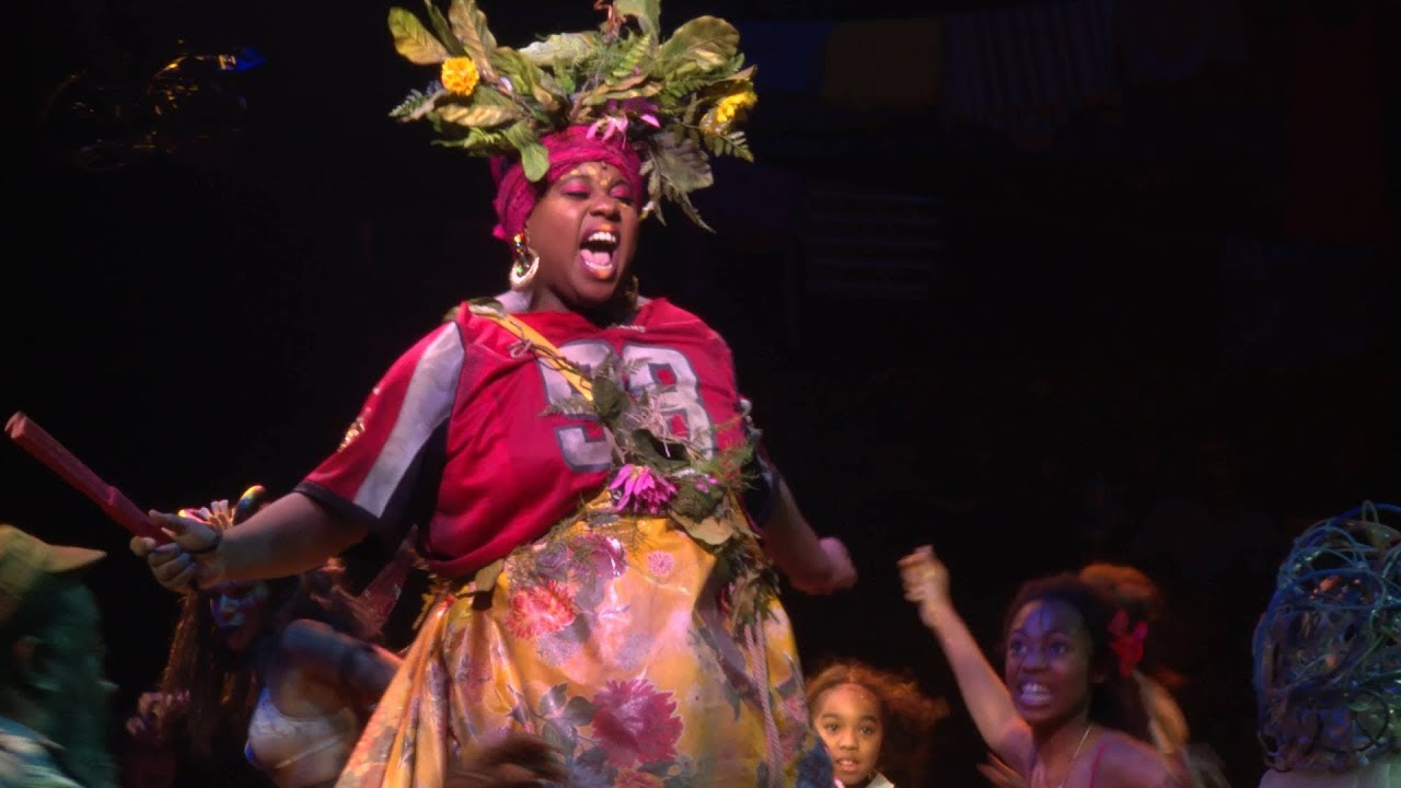 Mama will provide!  Alex Newell  as Asaka in the Broadway revival of ONCE ON THIS ISLAND