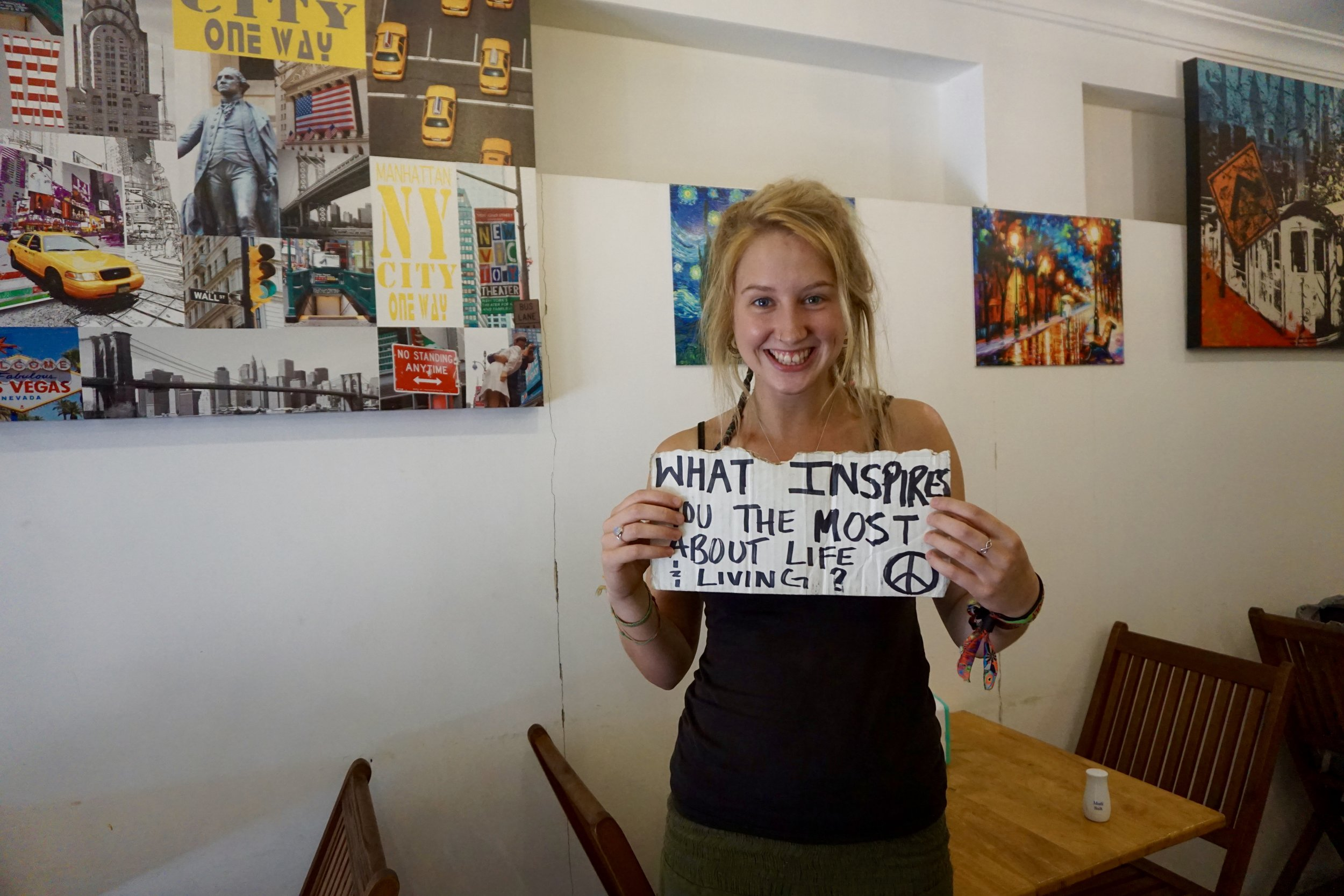 """From : United Kingdom   Interview Location  : Ho Chi Min, Vietnam  """"I would have to say.. who you build the foundation with behind you because they are the people that help create what inspires you on what you end up doing...like how you end up loving yourself, the friends you make.. they inspire you to help you do the things you do and having family… like definitely people who are behind you that basically shape who you are and what you do in like."""""""