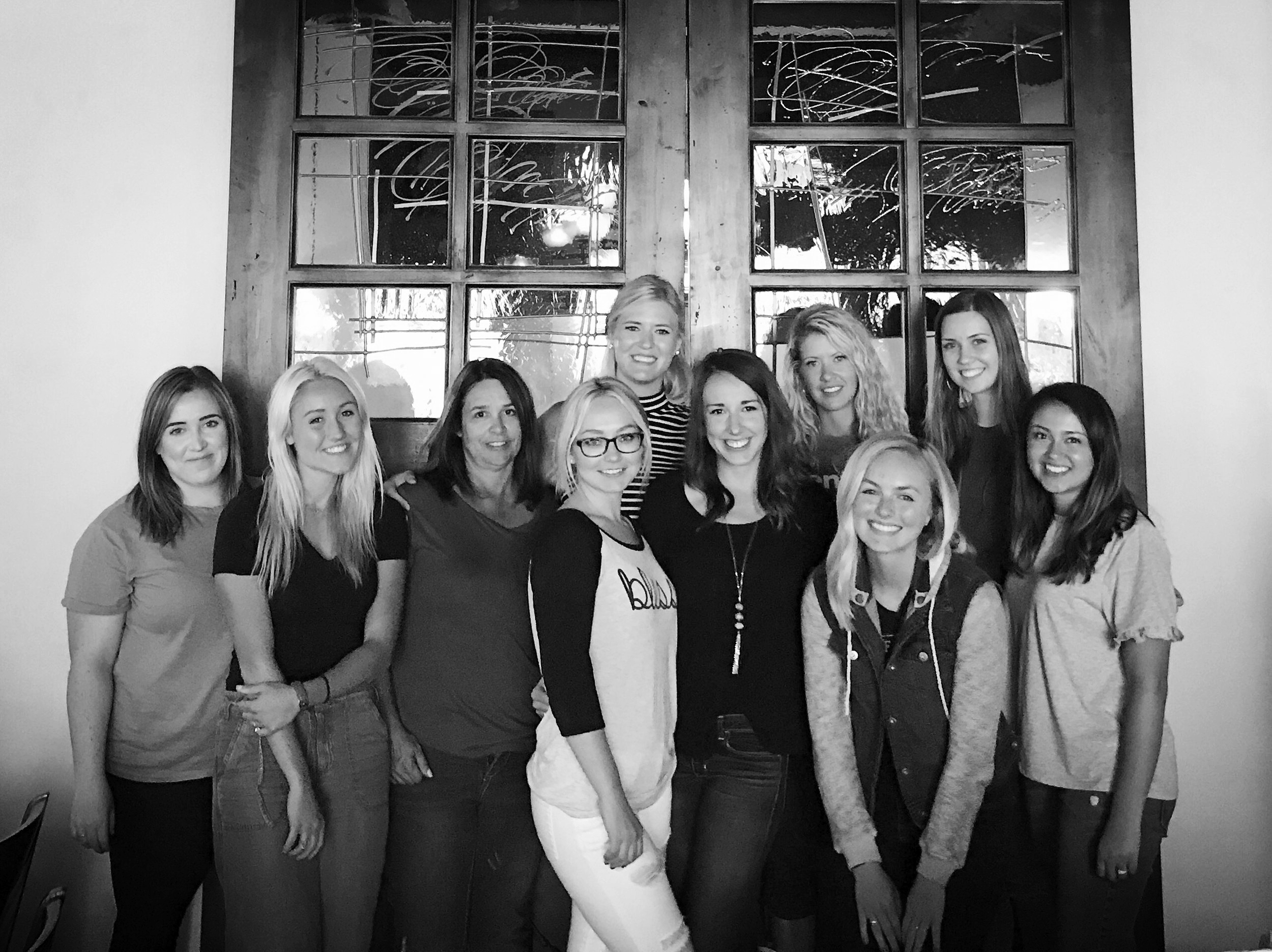 I started working at a healthcare marketing startup company called Banyan. All the girls got together for a lunch at Pizzeria 712 for an employees birthday. So fun!