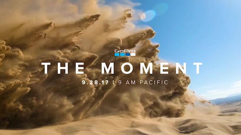 Above: GoPro's 2017 launch event announcement