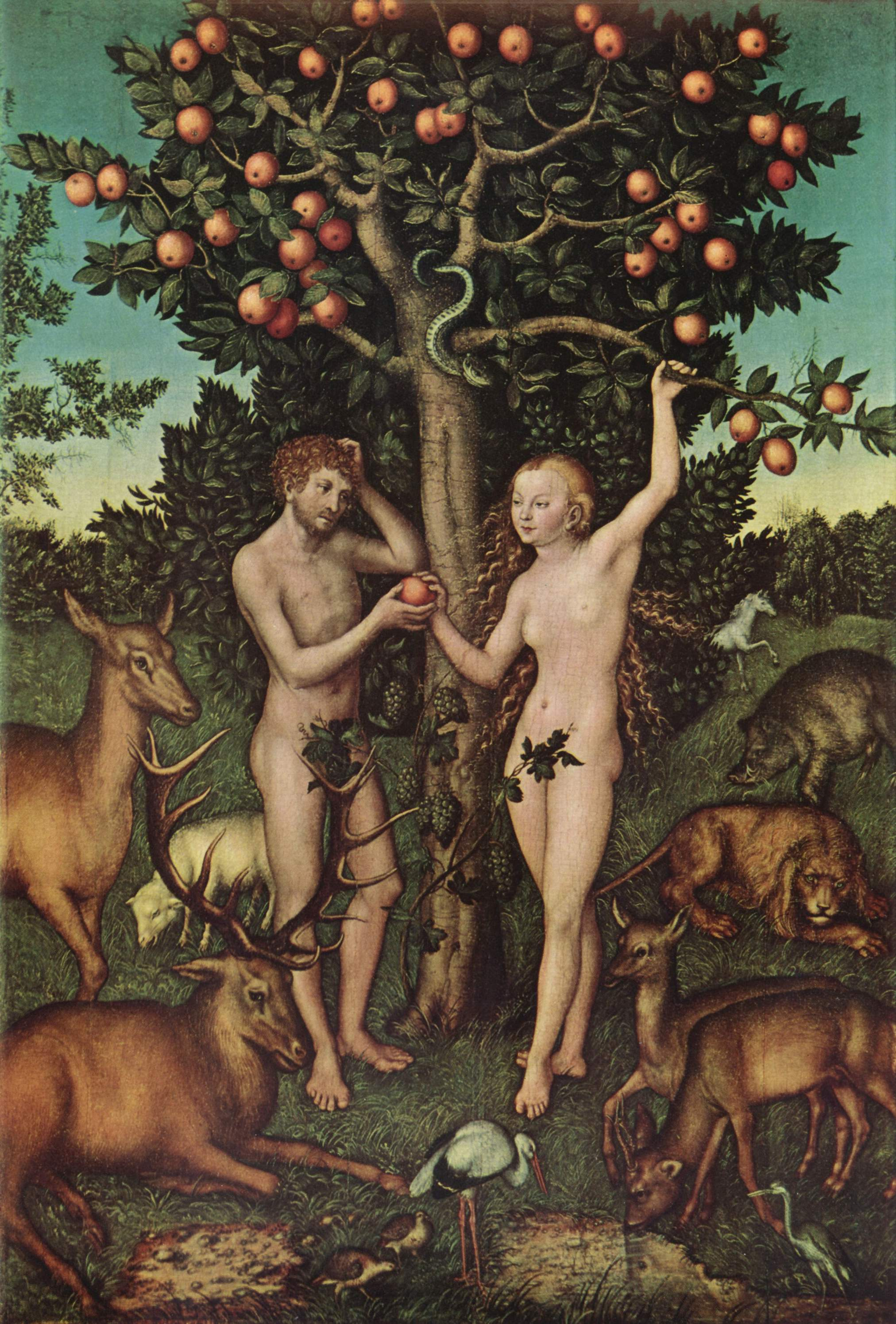 Lucas Cranach the Elder, Adam and Eve (Courtauld Gallery)