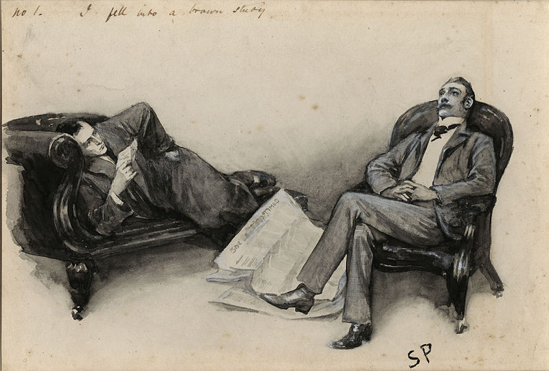 Sidney Paget, illustration to The Adventure of the Cardboard Box, 1893 (Special Collections Toronto Public Library)