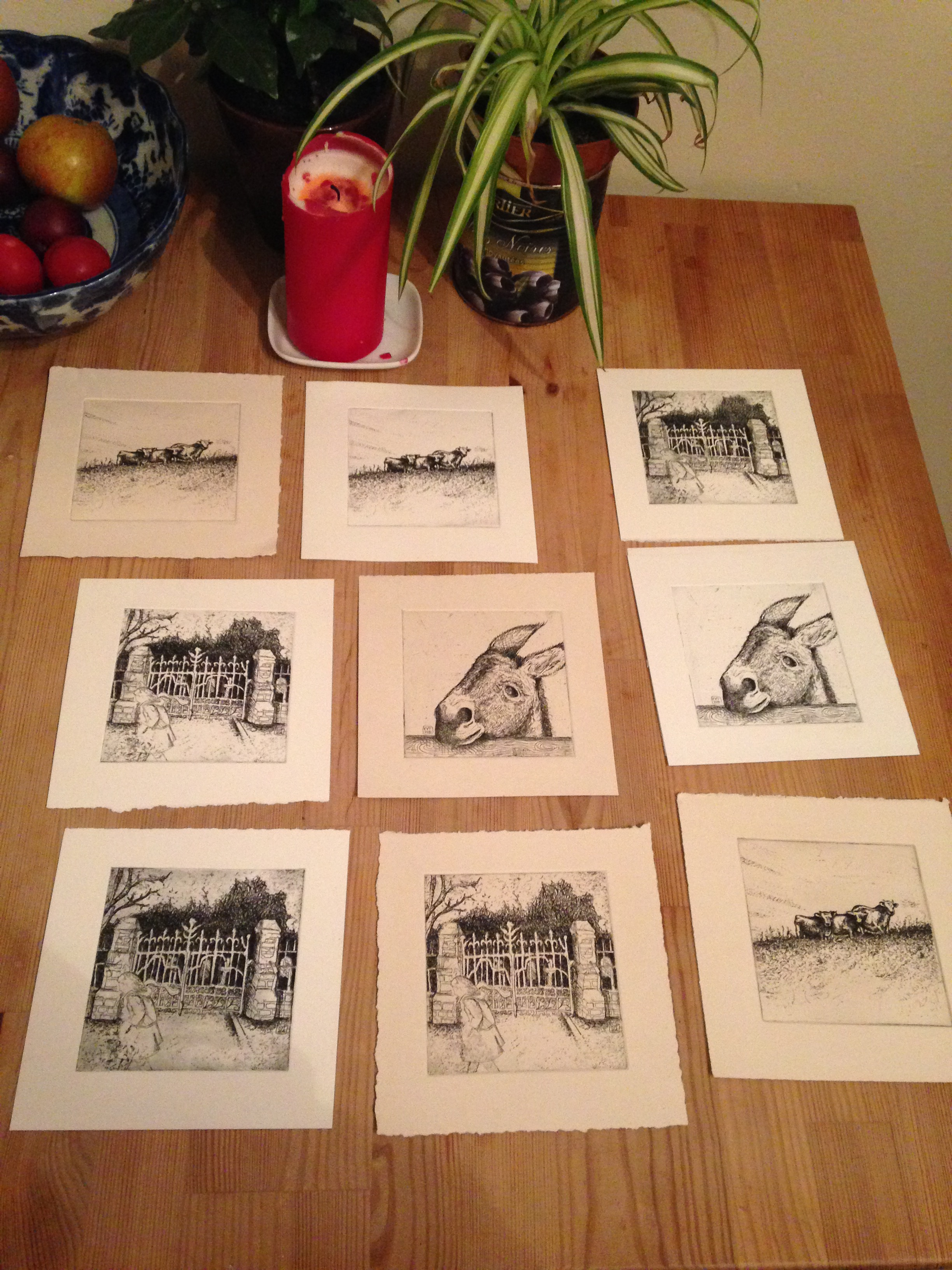 Finished etchings