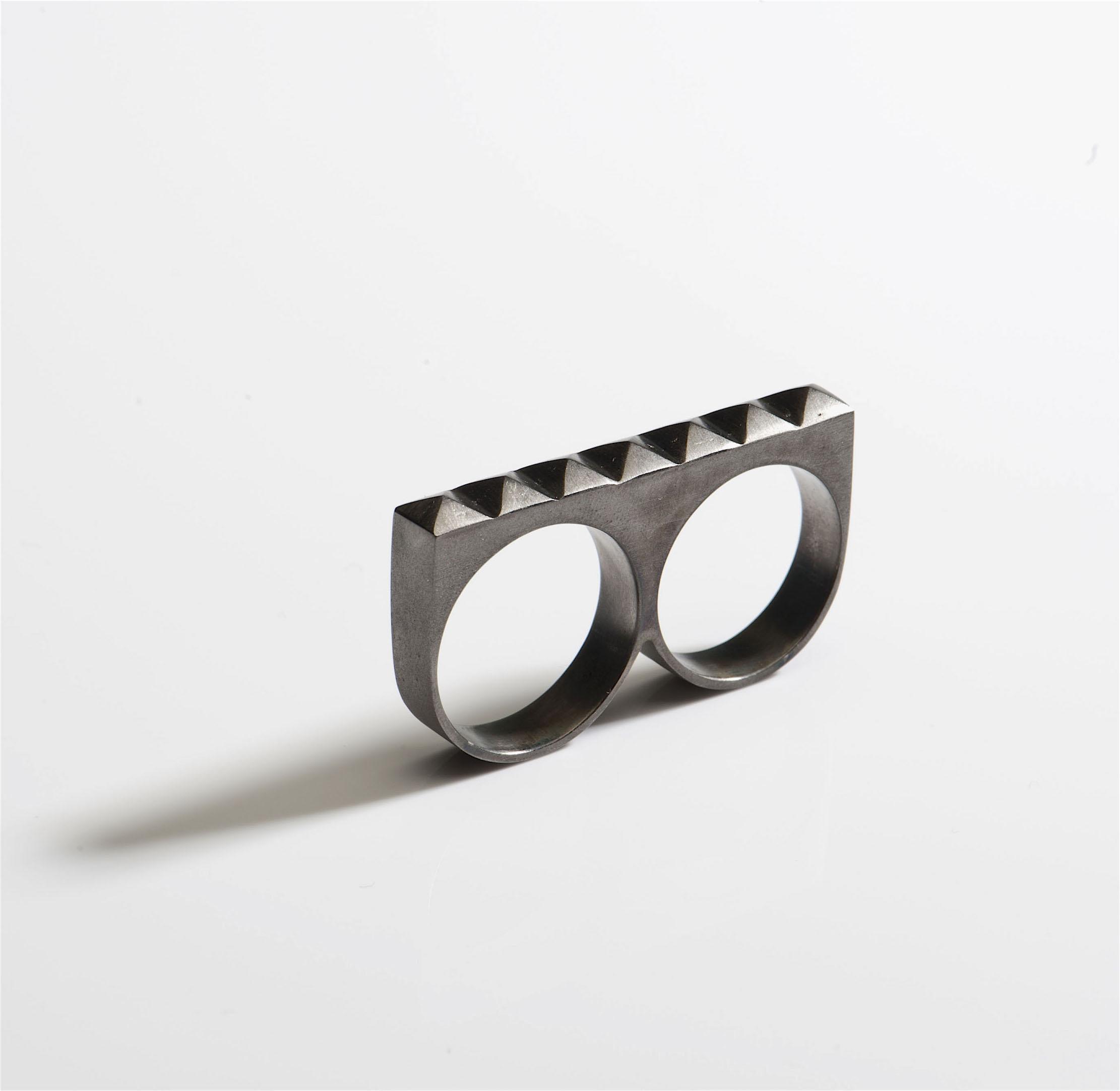 black silver double ring pyramid studs.jpg