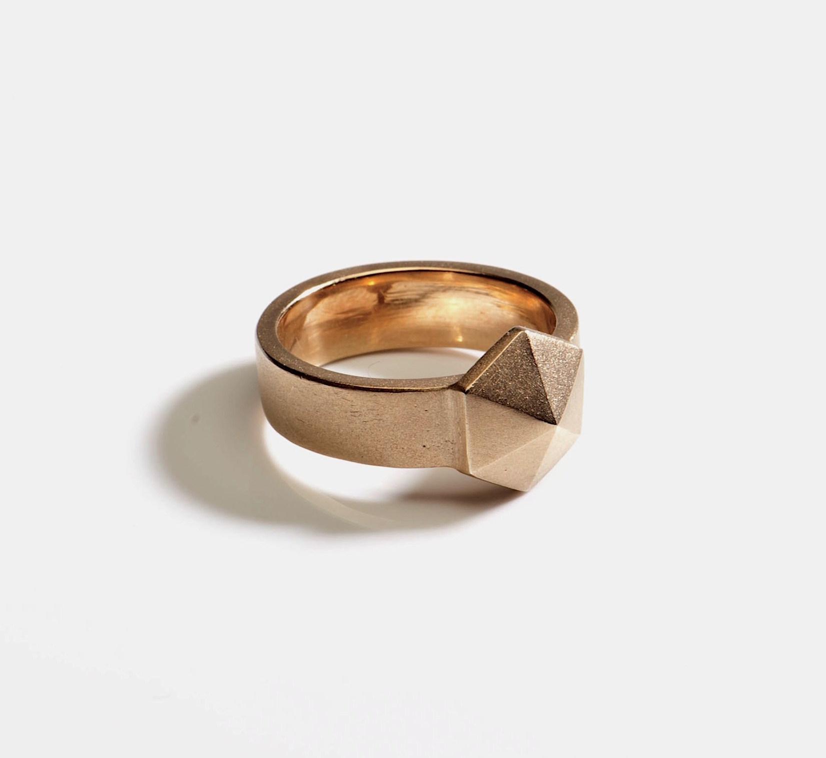 gold band ring silver pyramid stud head.jpg