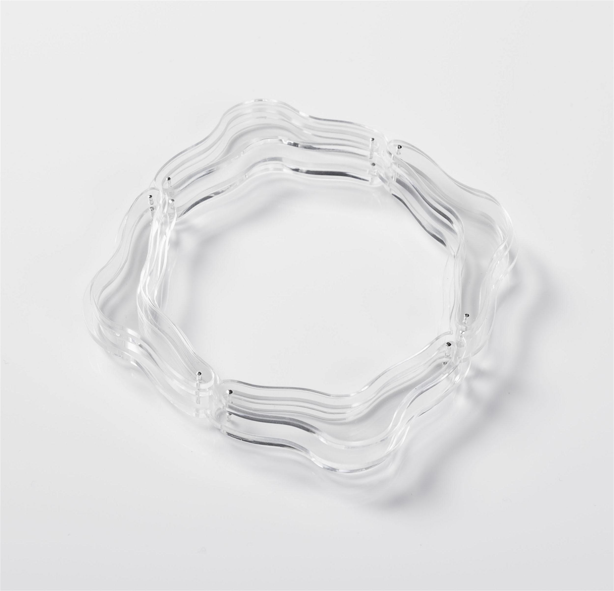 ghost jewellery stacked bracelet silver clear acrylic.jpg