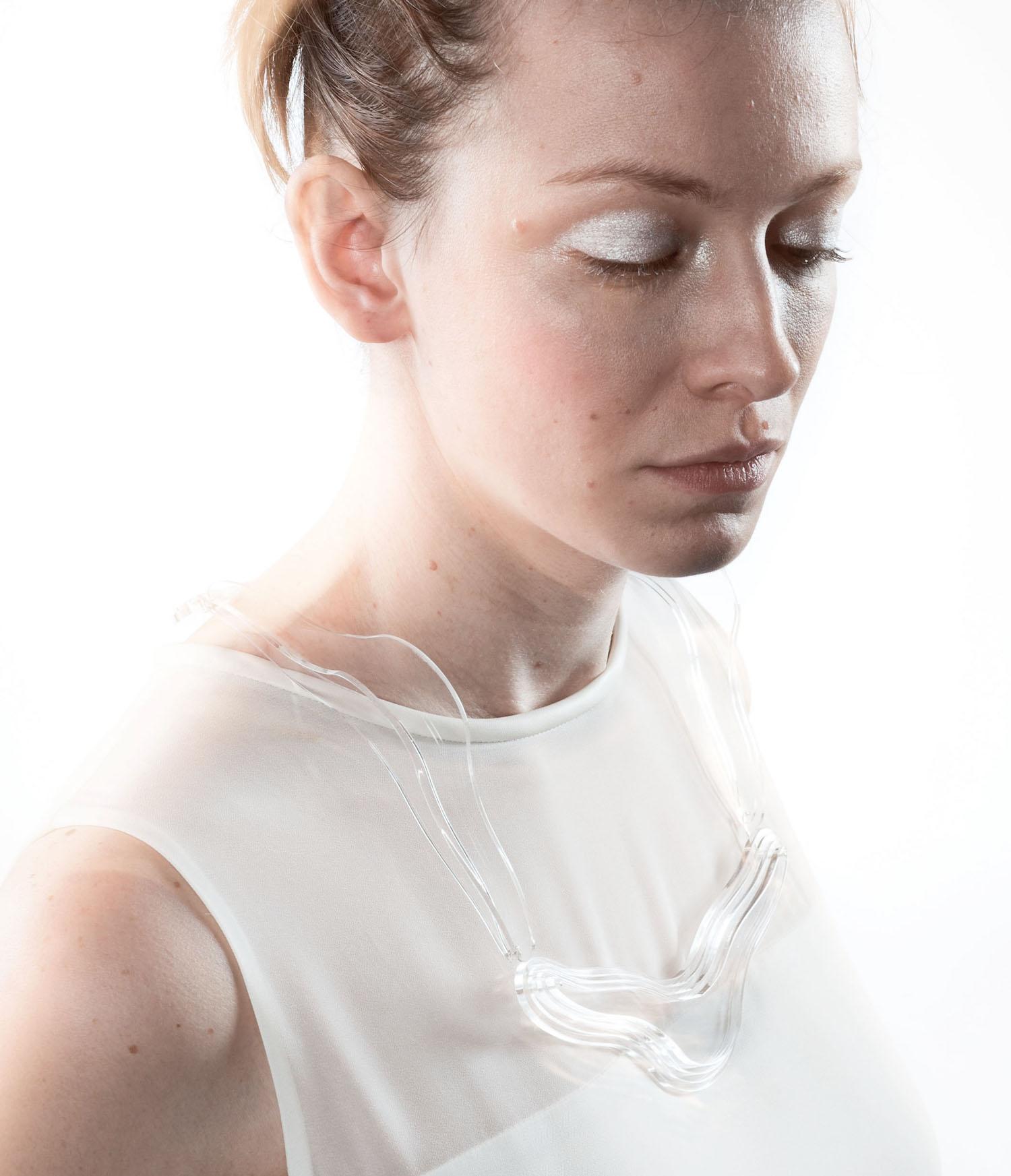 ghost neck piece worn by model.jpg