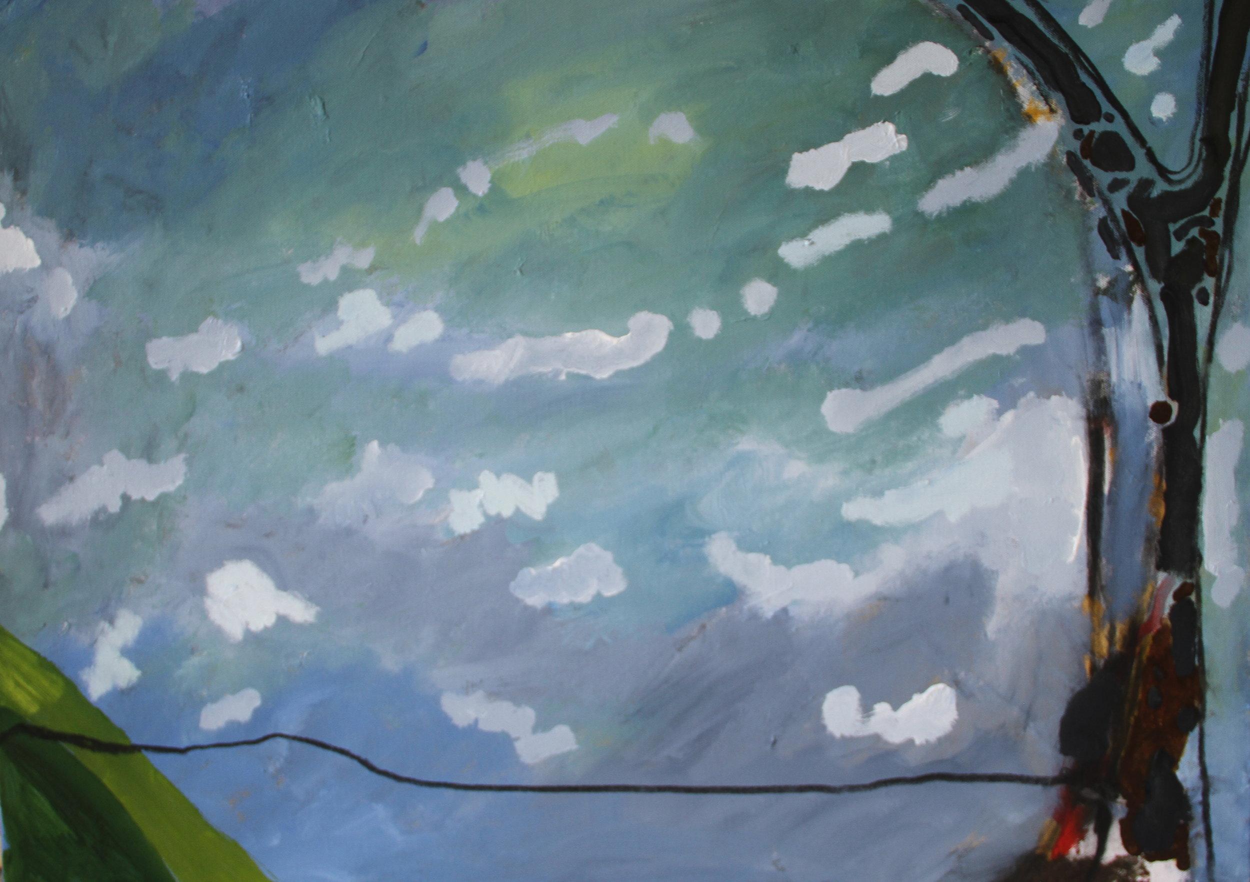 River. Acrylic on canvas. 100cm x 75cm. Paul Leyland